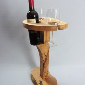Beech 'Tipple Table' Wine Stand