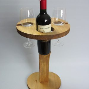 Rustic 'Tipple Table' Wine Stand